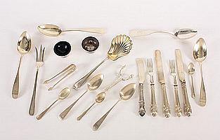 A set of three Scottish silver Old English pattern tablespoons Maker's mark RC, Edinburgh, 1798, (20)