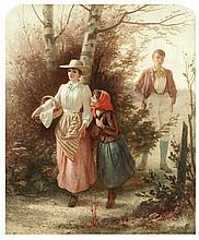 ALFRED FOWLER PATTEN (BRITISH, 1826-DIED CIRCA 1888) - 'A bashful swain'