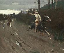 AR HAROLD KNIGHT, RA, ROI, RP (BRITISH, 1874-1961) - The chase