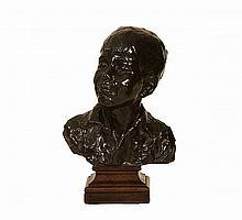 Fausta Vittoria Mengarini, Italian (1893-1952) A bronze head of a boy