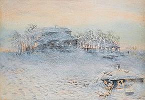 Appolinari Mikhailovich Vasnetsov (Russian, 1856-1933) The blizzard