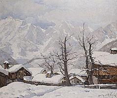 Mario Moretti Foggia (Italian, 1882-1954) In cammino; Sotto la neve (2)