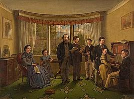 Edwin Cockburn (British, active 1837-1868) The drawing room; The music room; a pair