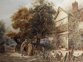 James Fahey (British, 1804-1885) The beggars petition