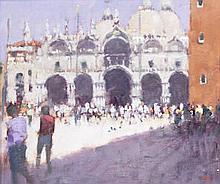 AR Stephen Brown, RBA (British, born 1947) 'Campanile San Marco'; 'Sailboats and