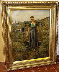 Herman van der Haar (Dutch, 1867-1938) The Milkmaid