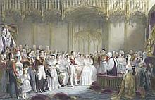 Charles Edward Wagstaff (British, born 1808) after Sir George Hayter The Wedding of Her Majesty Queen Vic
