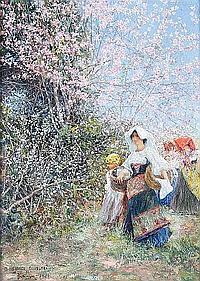 José Gallegos y Arnosa (Spanish, 1859-1917) Primavera