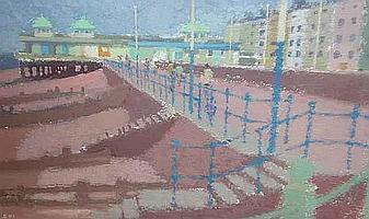 Arthur Stewart Mackay (British, born 1909) The Beach 16cm x 24cm.