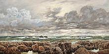John Brett, ARA (British, 1831-1902) A strong sou-wester on an iron-bound coast