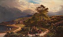 Sidney Richard Percy (British, 1821-1886) A wayside rest