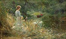 Charles William Wyllie, RBA (British, 1859-1923) The Backwater
