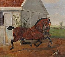 William Henry Wheelwright (British, 19th Century) 'County Member', Hackney Horse foaled in 1881
