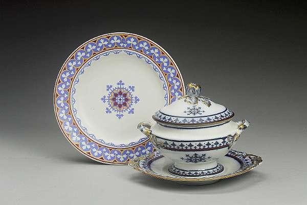 A Minton earthenware 'Medieval' pattern plate