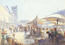 John Ernest Aitken (British, 1881-1957) 'The Marke