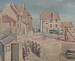 Alan Ian Ronald, RSW (British, 1899-1967) 'White House Pittenweem'