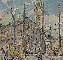 Alan Ian Ronald, RSW (British, 1899-1967) 'The Rathaus Hamburg'