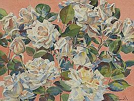 Alan Ian Ronald, RSW (British, 1899-1967) Roses