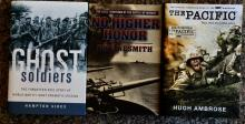 (3) Collectible Hardcover Books WWII Military History In The Pacific Theater in DJs