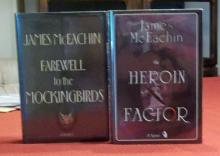(2) Signed Thrillers by James McEachin Author's 2nd & 3rd Books 1st Editions 1st Printings Hardcover w/ DJs