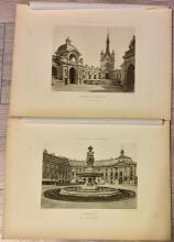 5 Framable circa 1890 ANTIQUE Photogravures Of French Architectural Landmarks