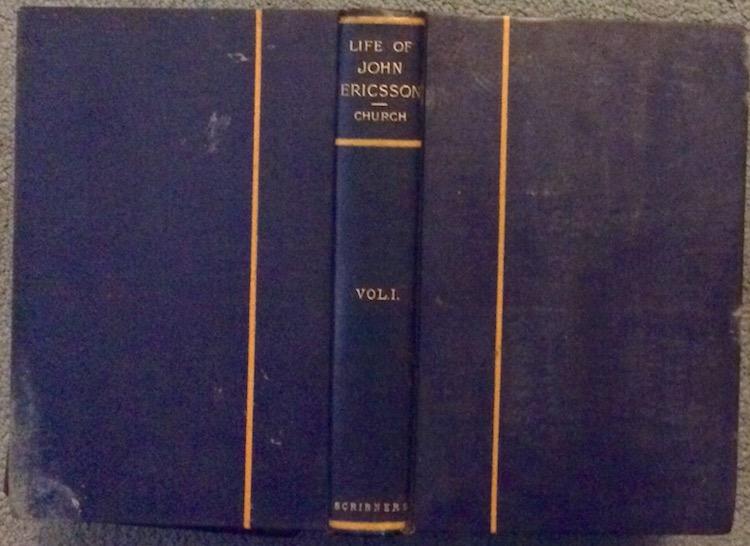 ANTIQUE 1890-1907 2 Vol Bio Naval Inventor John Ericsson