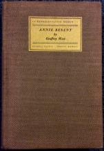 Vintage 1st Ed HC bio of Theosophy founder Annie Besant