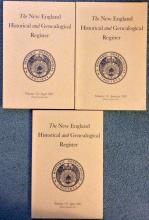 3 New England Historical & Genealogical Register issues