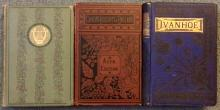 (3) Antique Decorated Binding 19th Century HC books
