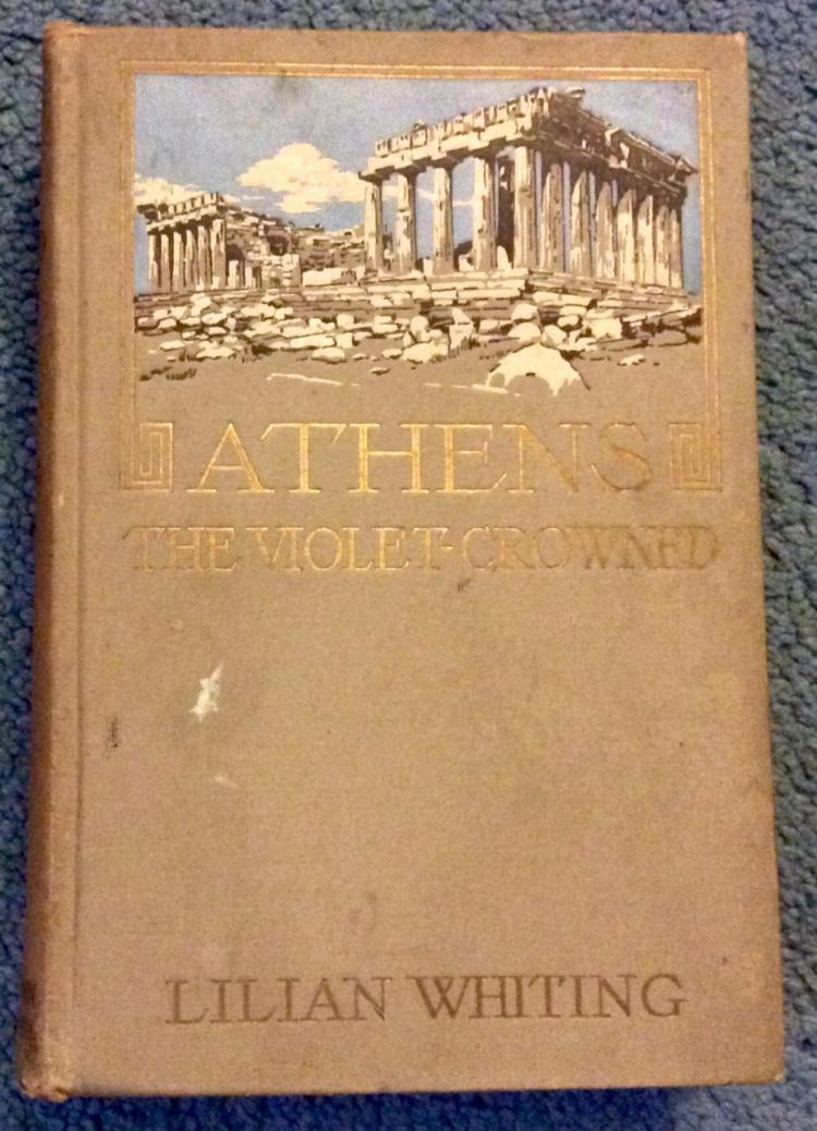 ANTIQUE Gilt Decorated 1913 Hardcover Greek Travel Book