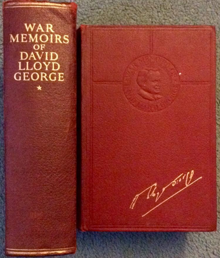 ANTIQUE 2 VOL HC David Lloyd George WWI War Memoirs