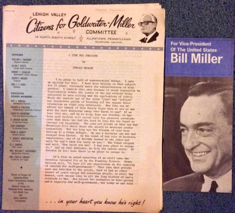 2 1964 Goldwater Republican Campaign Literature Pieces