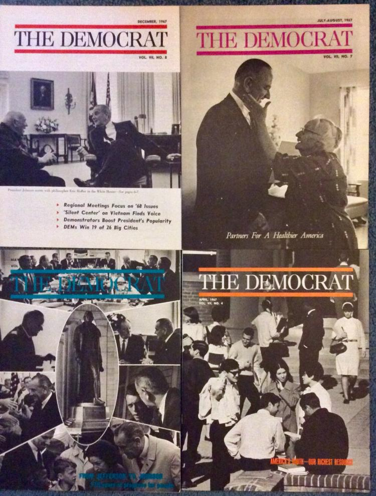 7 issues of The Democrat 1967-68 published by The DNC