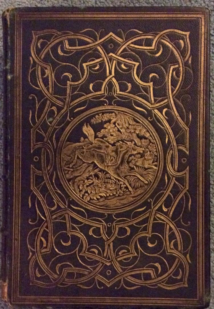ANTIQUE 19th Century Fine Leather Binding Byron's Works