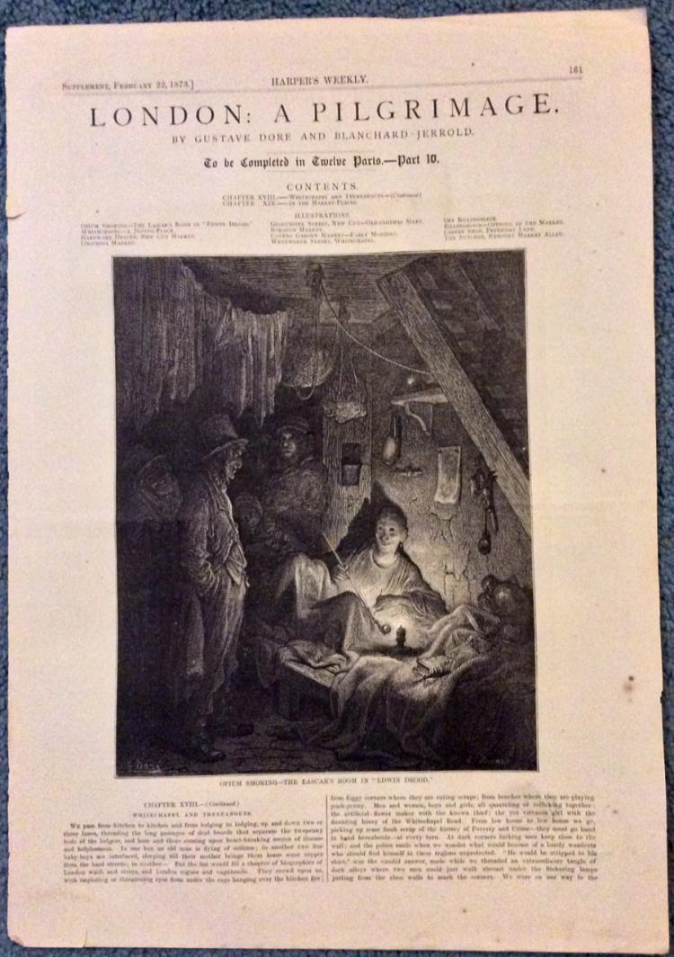 ANTIQUE 1873 Harper's Weekly Gustave Dore Illustrations