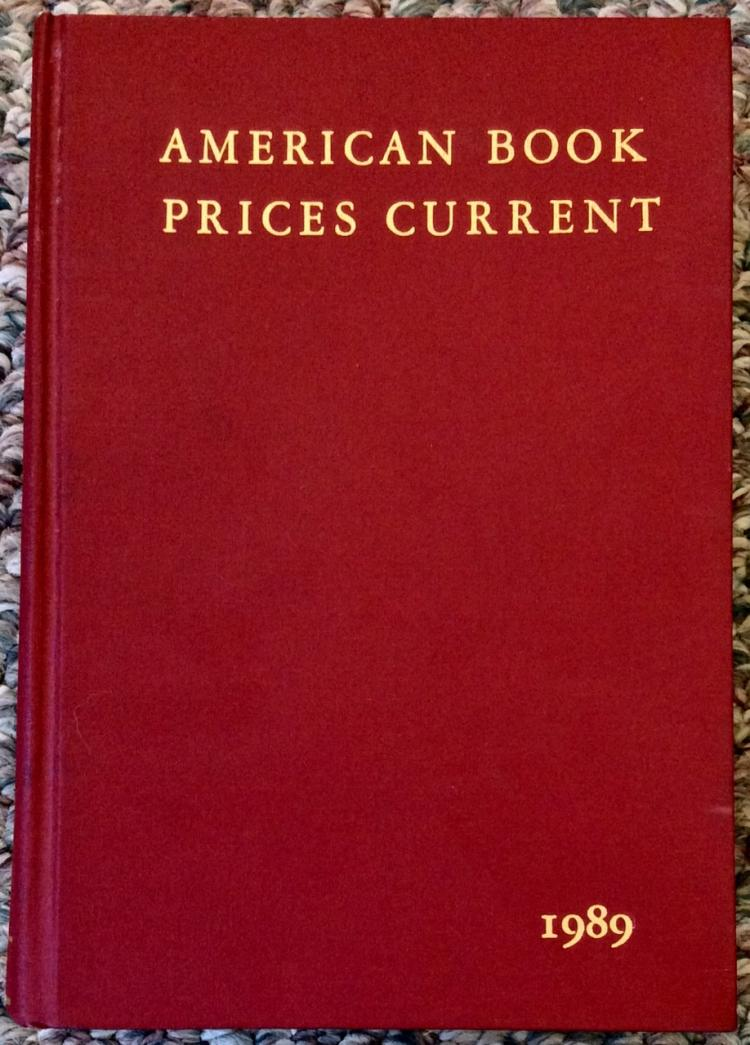 1989 American Book Prices Current Book & Autograph Reference