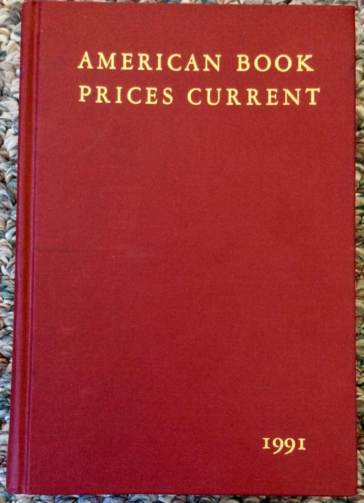 1991 American Book Prices Current Book & Autograph Reference