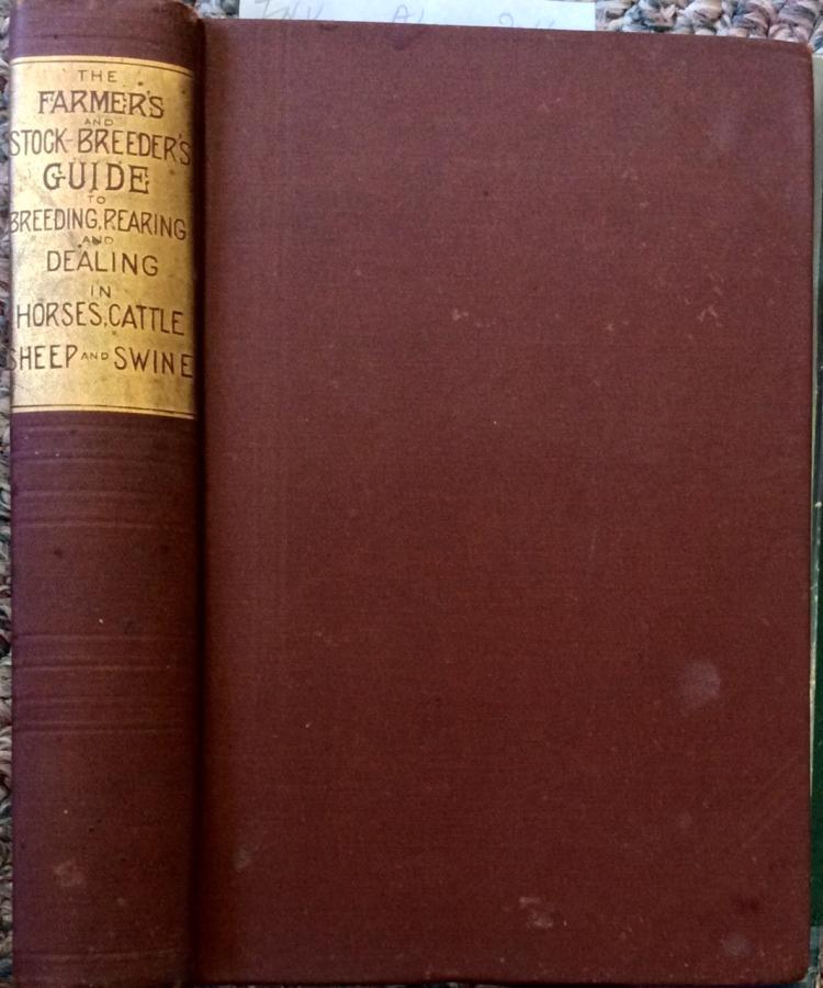 ANTIQUE 1884 Stock Breeder's Veterinary Hardcover Guide