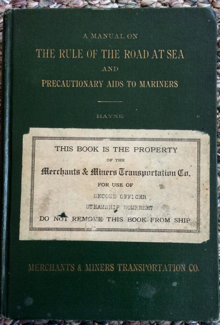 Antique Nautical Reference HC Rule Of The Road At Sea