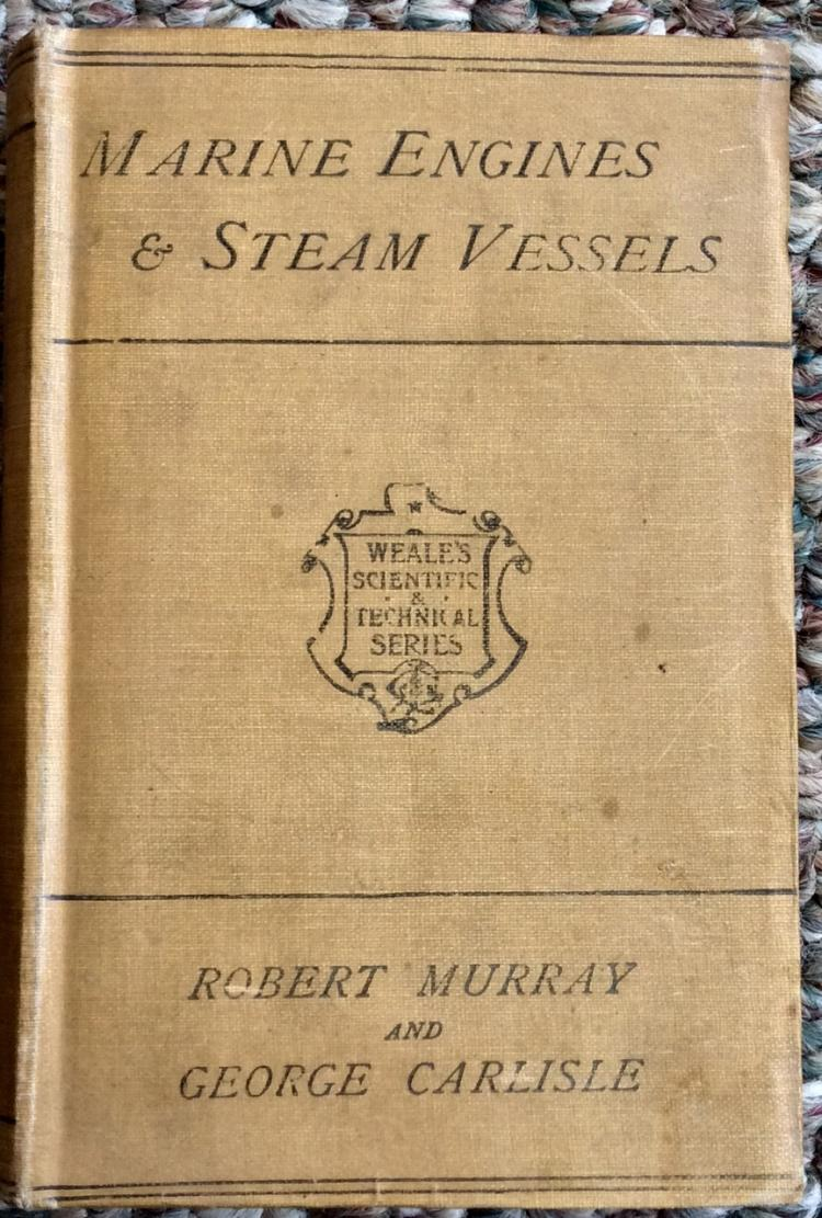 Antique HC Nautical Technical Marine Steam Engine Reference