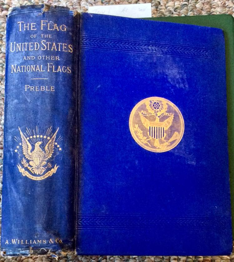 Antique Signed History Of US Flags Reference HC