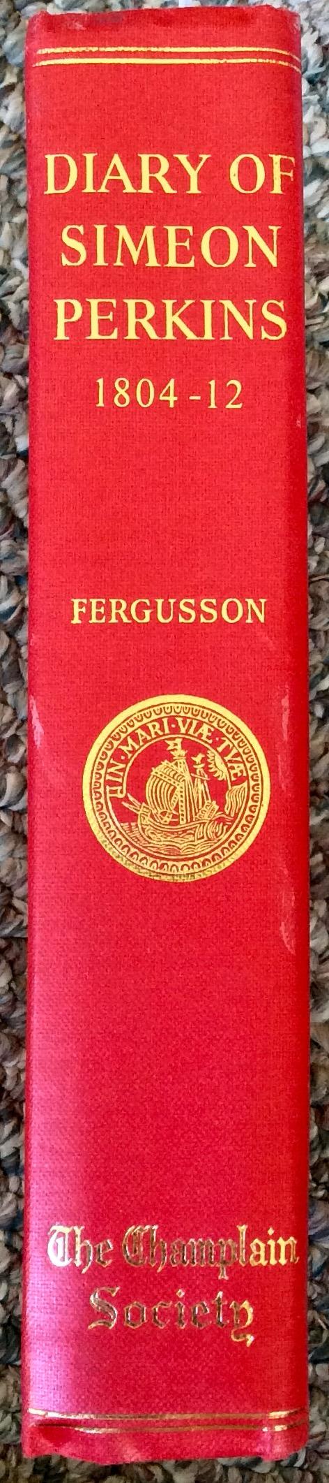 Diary Of Simeon Perkins Champlain Society Limited Ed HC