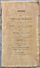 ANTIQUE 1814 Treasury Gov Doc for War Of 1812 Taxes Collected Signed in TYPE by Acting Treasury Sec Samuel Smith