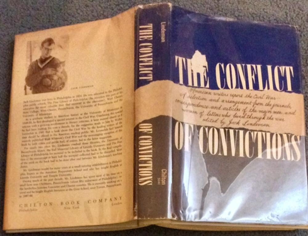 """The Conflict Of Convictions"" edited by Jack Lindeman VINTAGE 1968 Hardcover Civil War History 1st Edition 1st Printing In DJ"