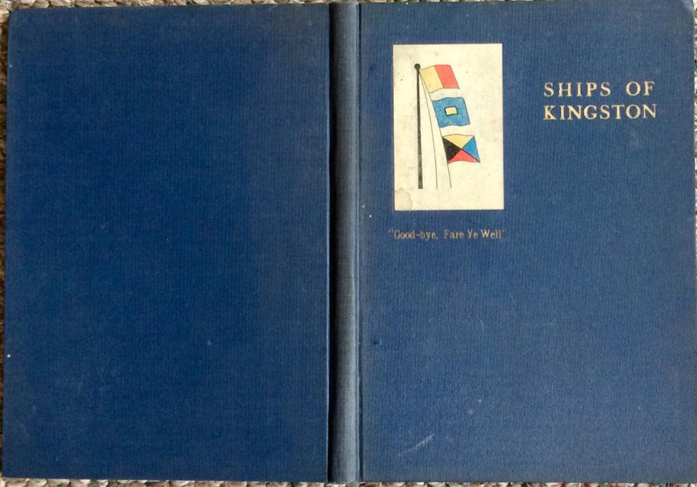 """Ships Of Kingston"" by Henry Jones ANTIQUE 1926 Hardcover History Of Ship Building In Kingston MA 1st Edition 1st Printing"