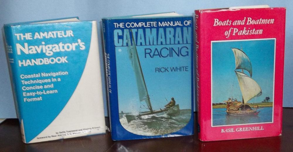 Lot of 3 Vintage Boating Books VINTAGE All Hardcovers 1971-76 All 1st Edition 1st Printing In DJs