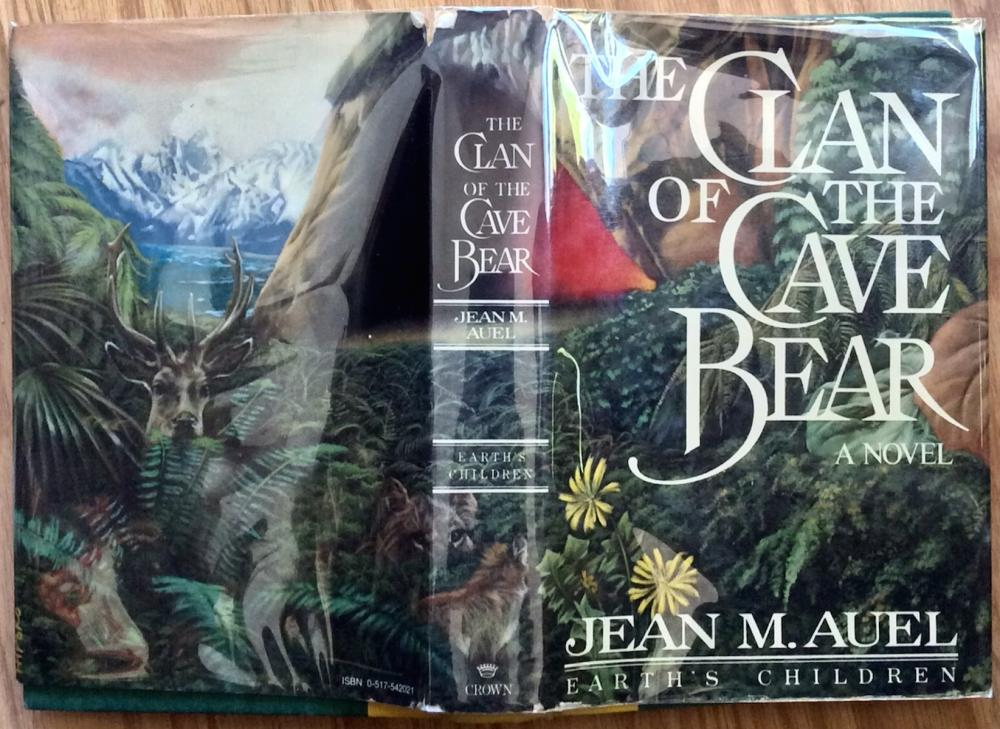 """The Clan Of The Cave Bear"" by Jean Auel Collectible 1980 Hardcover Author's First Book In ""Earth's Children"" Series 1st Edition 1st Printing In DJ"