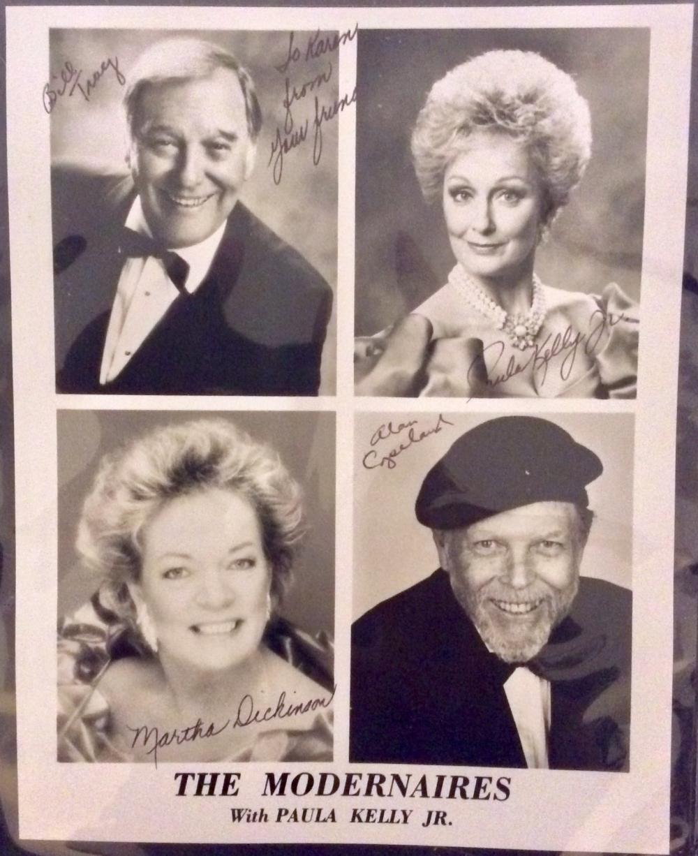"The Modernaires 8X10 Autographed Photo of Noted American Quartet ""The Modernaires"" Signed By All Four Members"