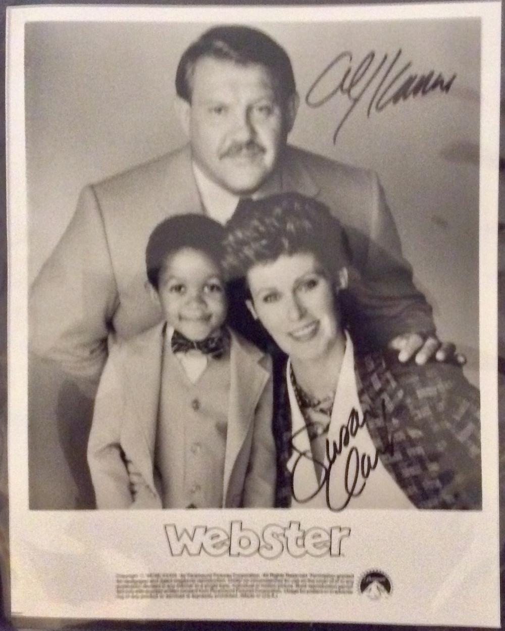 Alex Karras & Susan Clark 8X10 Autographed Photo of Noted American Actors Alex Karras & Susan Clark