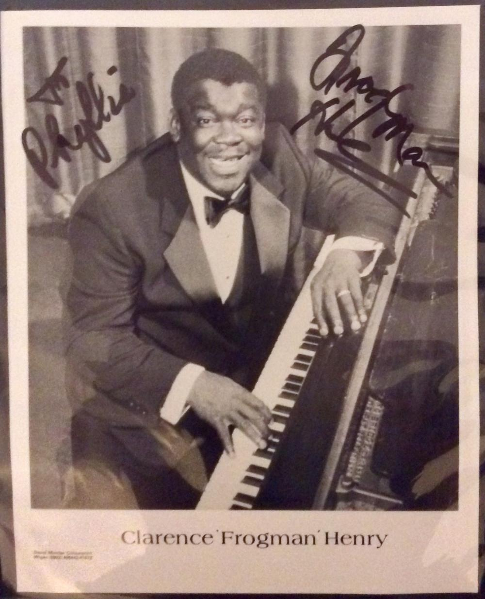 "Clarence ""Frogman"" Henry 8X10 Autographed Photo of Noted Rhythm & Blues Singer Clarence ""Frogman"" Henry"